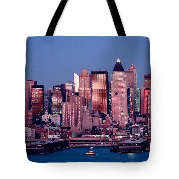 New York Skyline At Dusk Tote Bag