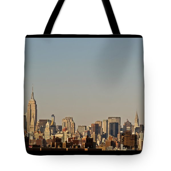 Tote Bag featuring the photograph New York Skyline by Kerri Farley
