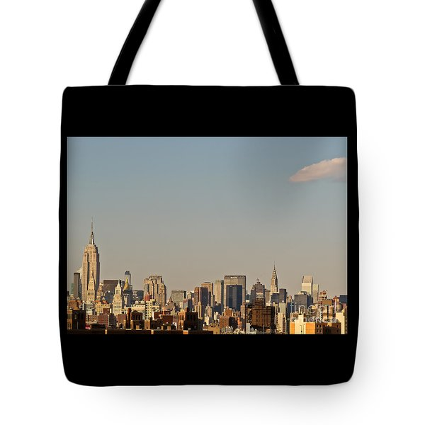 Tote Bag featuring the photograph New York City Skyline by Kerri Farley