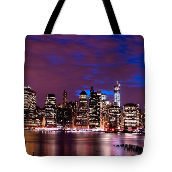 New York Skyline Magic Hour-- From Brooklyn Heights Promenade Tote Bag