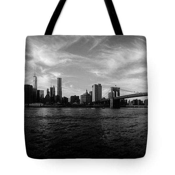 New York Skyline Tote Bag by Nicklas Gustafsson