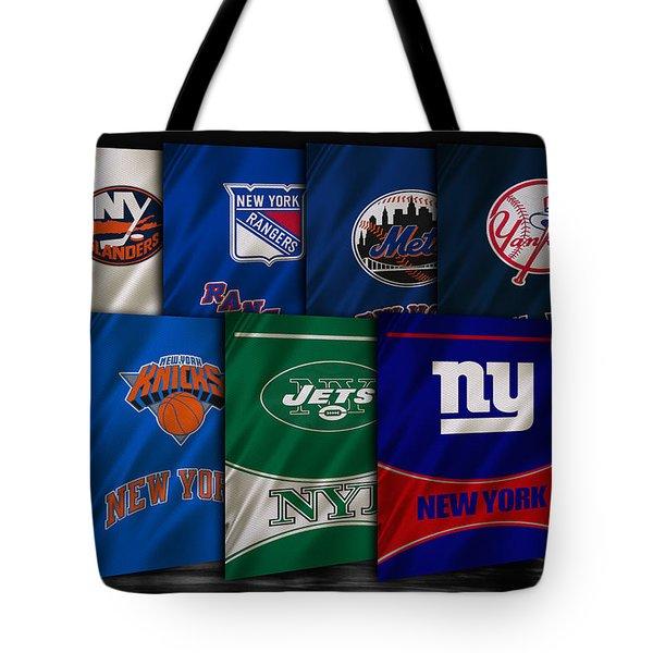 New York Sports Teams Tote Bag