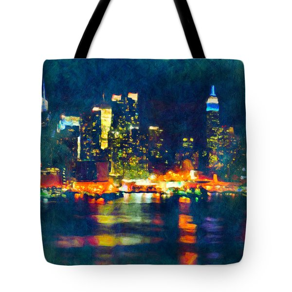 New York State Of Mind Abstract Realism Tote Bag