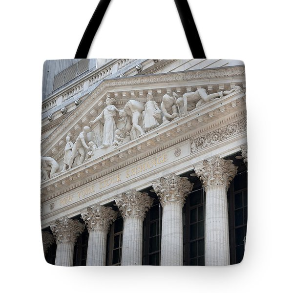 New York Stock Exchange I Tote Bag by Clarence Holmes