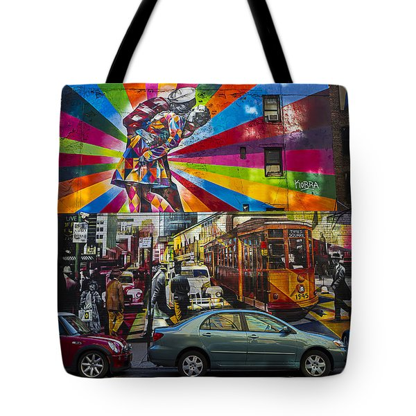 New York Street Scene Tote Bag by Garry Gay