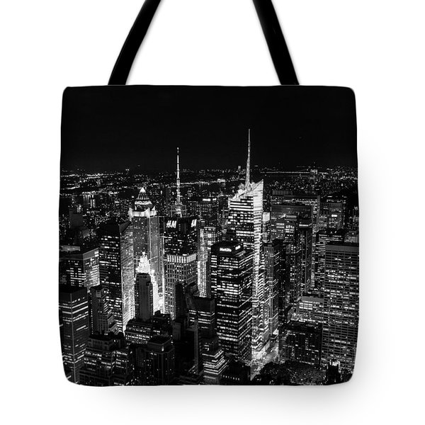 New York Times Square Bw Tote Bag by Matt Malloy