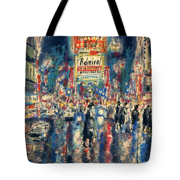 New York Times Square 79 - Watercolor Art Painting Tote Bag