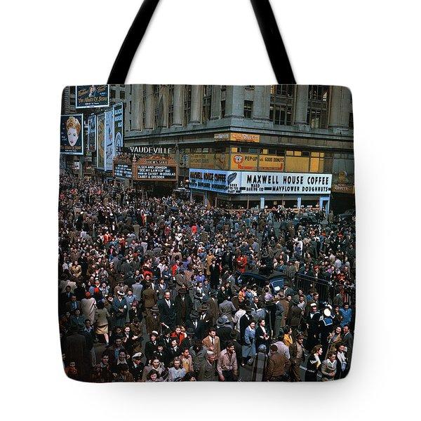 New York: V-e Day, 1945 Tote Bag by Granger