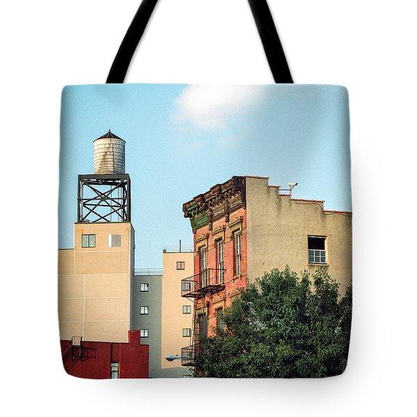 New York Water Tower 3 Tote Bag