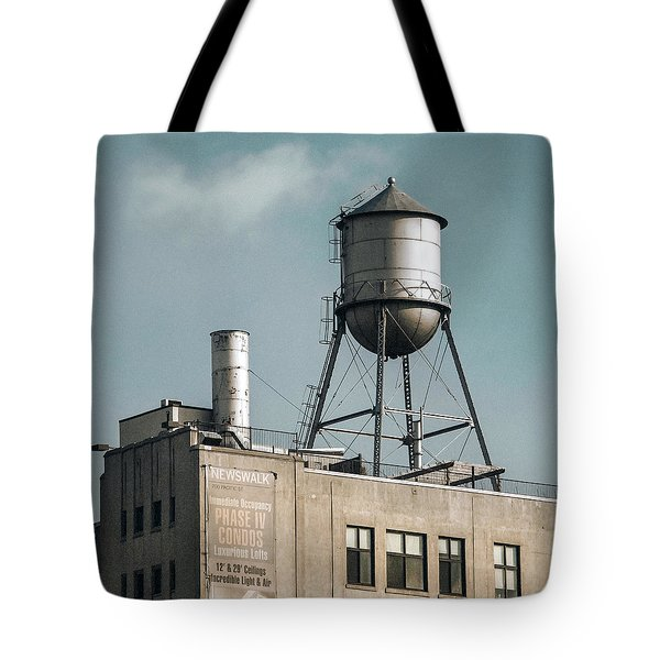 New York Water Towers 10 Tote Bag