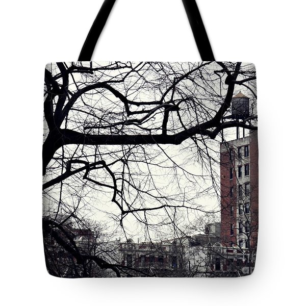 New York Winter Day 2 Tote Bag by Sarah Loft