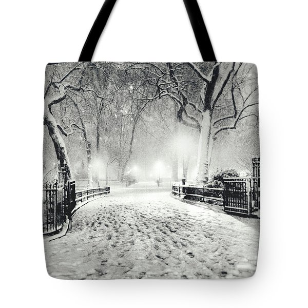 New York Winter Landscape - Madison Square Park Snow Tote Bag by Vivienne Gucwa