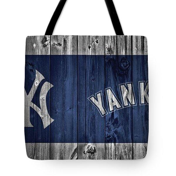 New York Yankees Barn Door Tote Bag by Dan Sproul