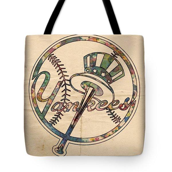 New York Yankees Poster Vintage Tote Bag