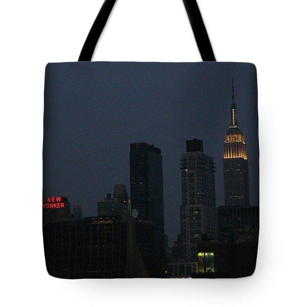 New Yorker At Night Tote Bag by Avis  Noelle