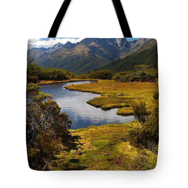 New Zealand Alpine Landscape Tote Bag