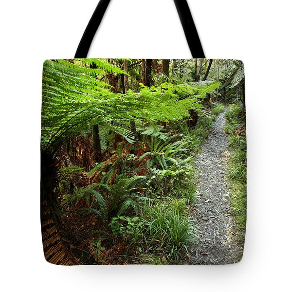New Zealand Forest Tote Bag by Les Cunliffe