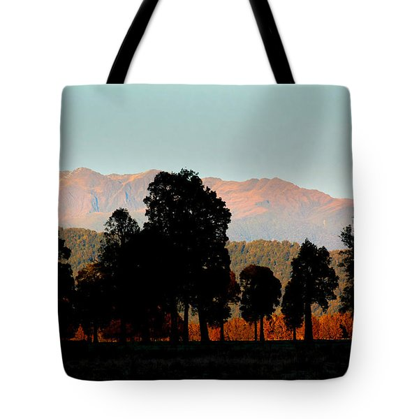 Tote Bag featuring the photograph New Zealand Silhouette by Amanda Stadther