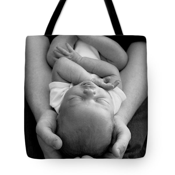 Newborn In Arms Tote Bag by Lisa Phillips