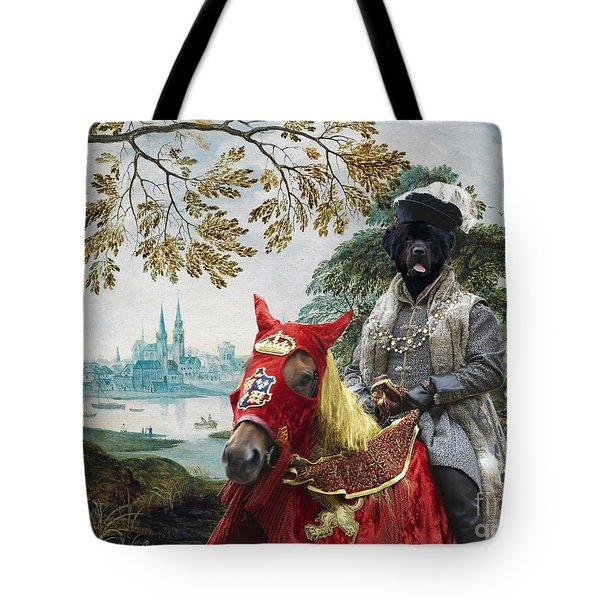 Newfoundland Art - Pasague With Duke Tote Bag