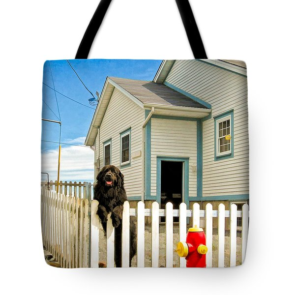 Newfoundland Dog In Newfoundland Tote Bag