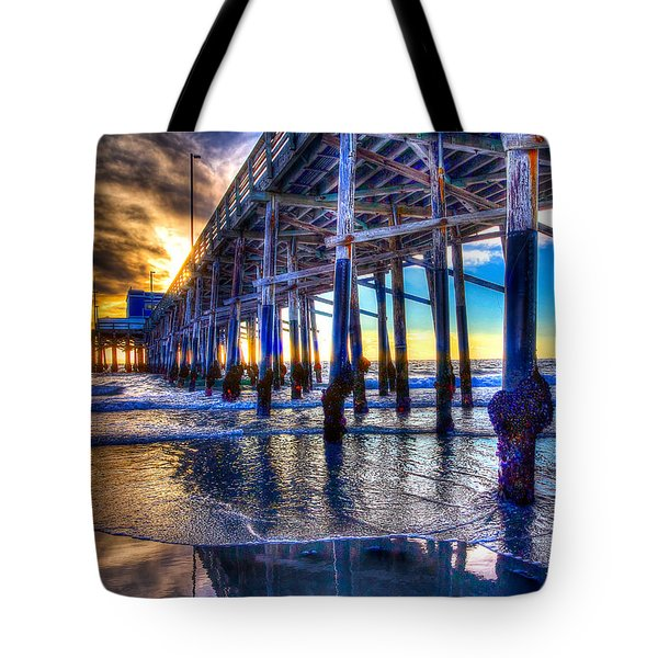 Newport Beach Pier - Low Tide Tote Bag