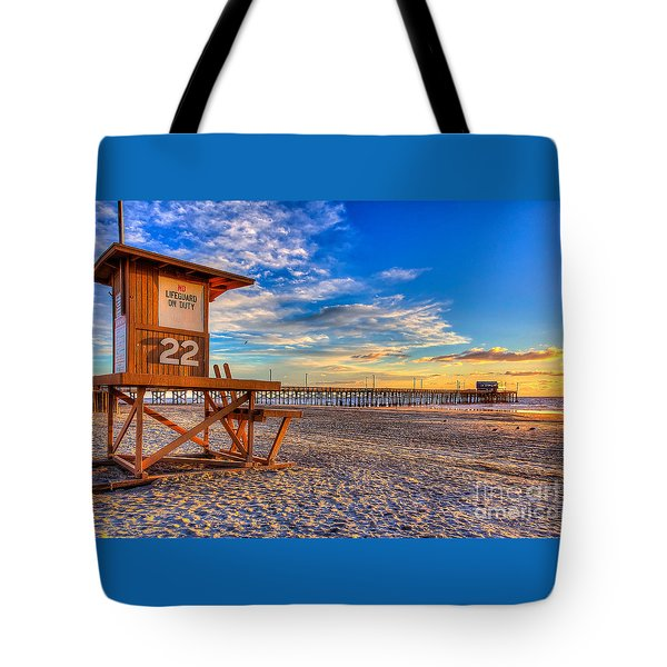 Newport Beach Pier - Wintertime  Tote Bag