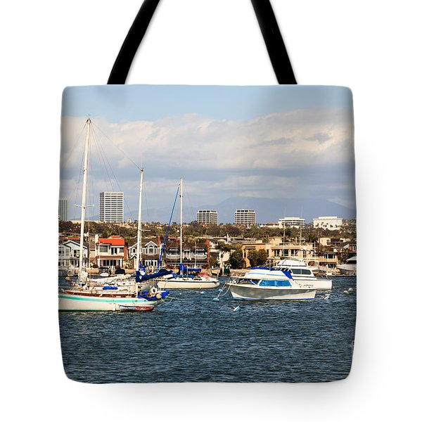Newport Beach Skyline In Orange County California Tote Bag by Paul Velgos