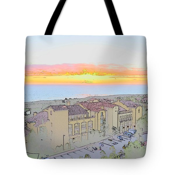 Tote Bag featuring the photograph Newport Coast Sunset by Penny Lisowski