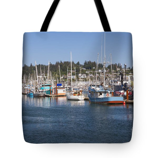 Tote Bag featuring the photograph Newport Marina by Bryan Mullennix