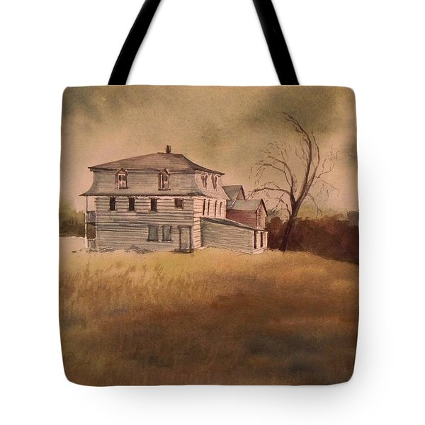 Tote Bag featuring the painting Newport Vermont by Joy Nichols