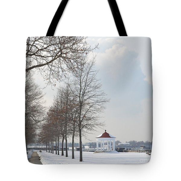 Newport Waterfront Tote Bag