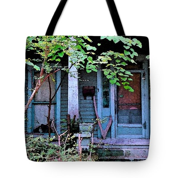 Next Door To Aunt Agnes Tote Bag by Patricia Greer