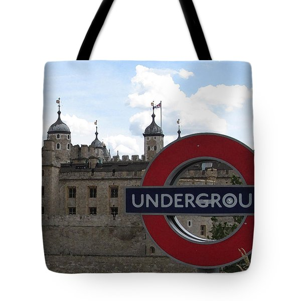 Next Stop Tower Of London Tote Bag