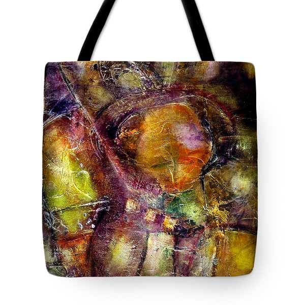 Tote Bag featuring the painting Nexus by Katie Black
