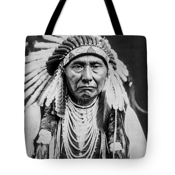 Nez Perce Indian Man Circa 1903 Tote Bag by Aged Pixel
