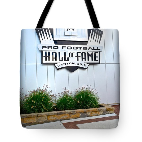 Nfl Hall Of Fame Tote Bag by Frozen in Time Fine Art Photography