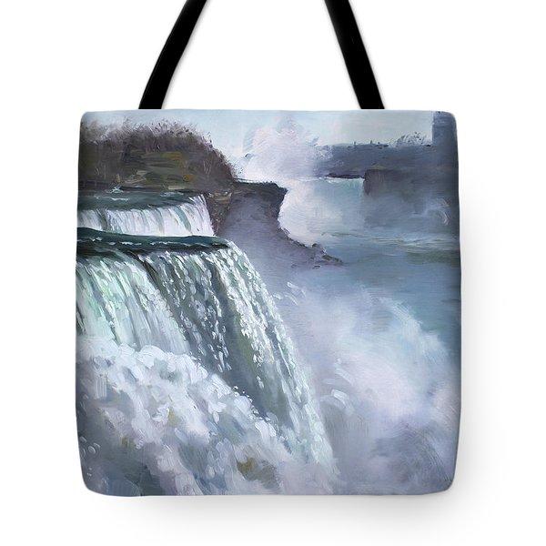 Niagara American Falls Tote Bag by Ylli Haruni