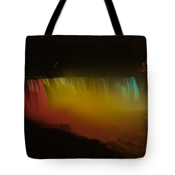 Niagara Falls A Glow Tote Bag by Dave Files