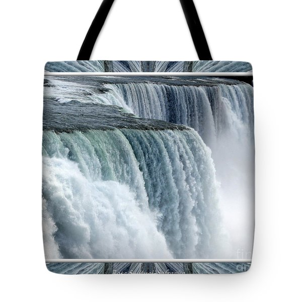 Niagara Falls American Side Closeup With Warp Frame Tote Bag