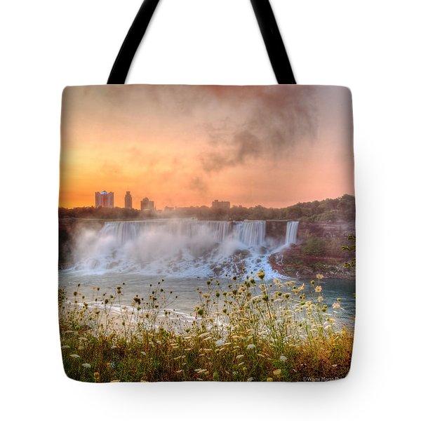 Niagara Falls Canada Sunrise Tote Bag