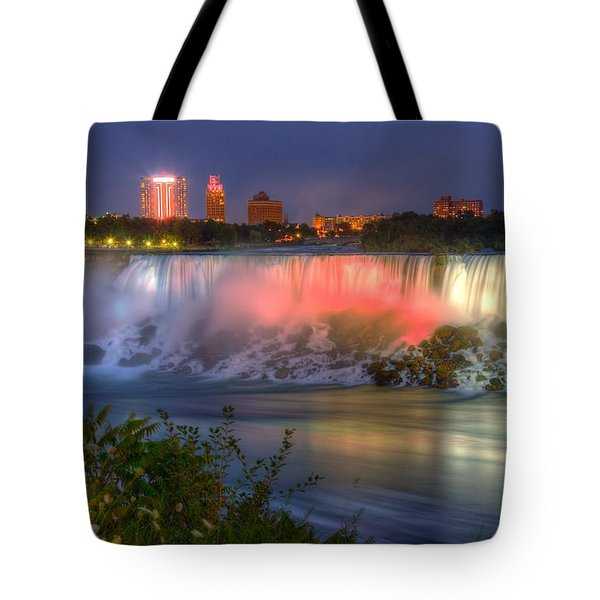 Niagara Falls Canada Sunset  Tote Bag