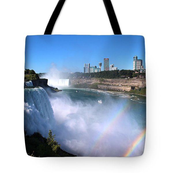 Niagara Falls Double Rainbow Tote Bag