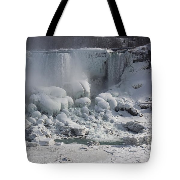 Niagara Falls Ice Buildup - American Falls New York State U S A Tote Bag
