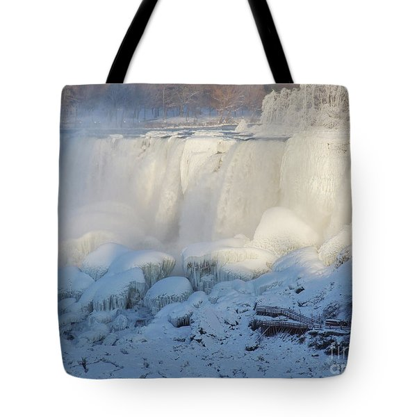 Tote Bag featuring the photograph Niagara Falls In Winter by Phil Banks