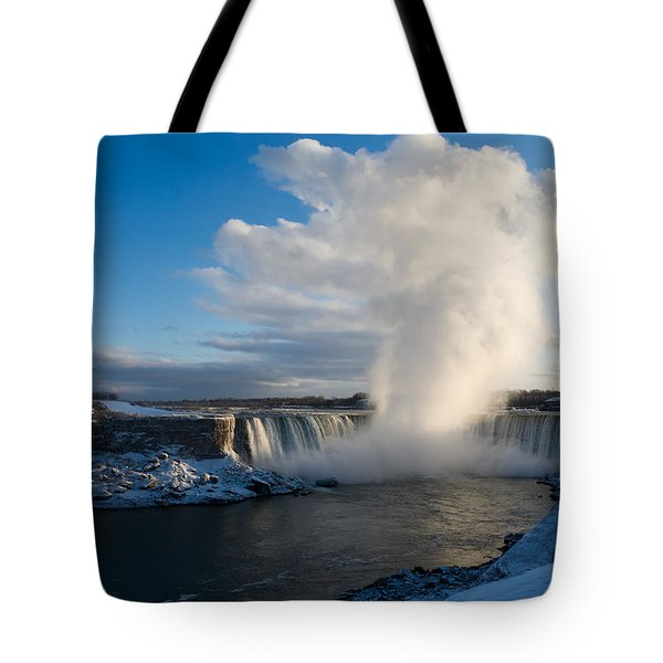 Niagara Falls Makes Its Own Weather Tote Bag