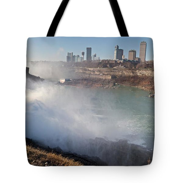 Tote Bag featuring the photograph Niagara Falls Panorama by William Norton