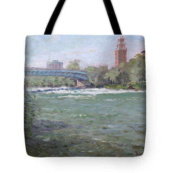 Niagara Falls River Ny Tote Bag