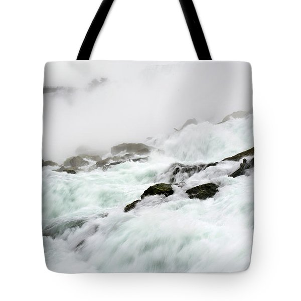 Niagara Falls With Observation Tower Behind Tote Bag