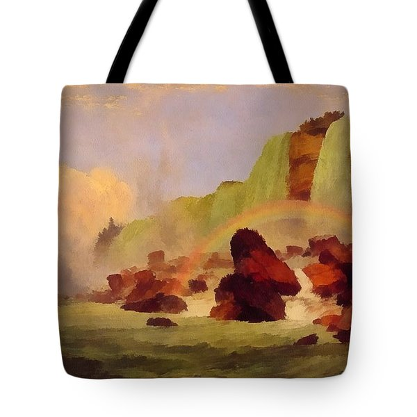 Niagara Falls With View Of Clifton House Tote Bag by Jasper Francis
